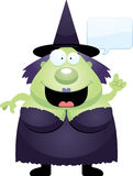 Cartoon Witch Talking Stock Images