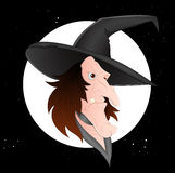 Cartoon Witch Vector Stock Image