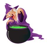Cartoon Witch Royalty Free Stock Image