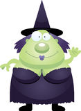 Cartoon Witch Waving. A cartoon illustration of a witch waving Stock Photo