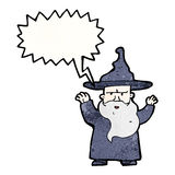 Cartoon wizard Stock Images