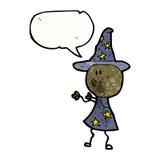 cartoon wizard doodle man Stock Image