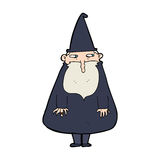 Cartoon wizard Royalty Free Stock Photos
