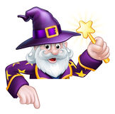 Cartoon Wizard Pointing Stock Images