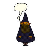 Cartoon wizard with speech bubble Stock Photos