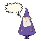 Cartoon wizard with speech bubble Royalty Free Stock Photo