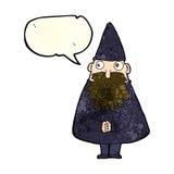 Cartoon wizard with speech bubble Stock Image