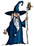 Cartoon Wizard with staff Royalty Free Stock Images