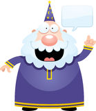 Cartoon Wizard Talking Stock Photography