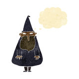 Cartoon wizard with thought bubble Royalty Free Stock Photos