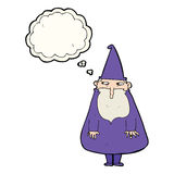 Cartoon wizard with thought bubble Stock Image