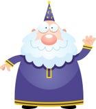 Cartoon Wizard Waving Stock Images