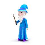 Cartoon Wizard on White Background Stock Photo