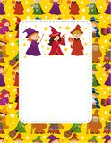 Cartoon Wizard and Witch card Stock Photos