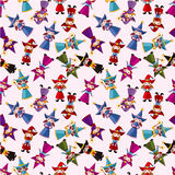 Cartoon Wizard and Witch magic seamless pattern Royalty Free Stock Images