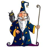 Cartoon Wizard witha staff Stock Images
