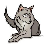 Cartoon wolf vector illustration