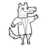 Cartoon wolf businessman Royalty Free Stock Photo