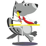 Cartoon wolf businessman 05 stock illustration