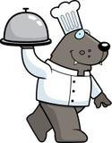 Cartoon Wolf Chef Royalty Free Stock Photos