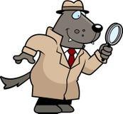 Cartoon Wolf Detective Stock Photos