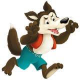 The cartoon wolf Stock Photos