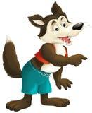 The cartoon wolf Stock Image
