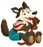 The cartoon wolf Royalty Free Stock Photography