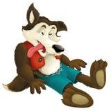 The cartoon wolf Stock Photography