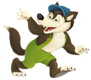 The cartoon wolf Stock Images