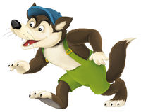 The cartoon wolf Royalty Free Stock Image