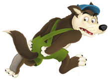 The cartoon wolf Royalty Free Stock Photo