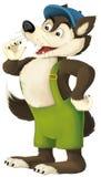 The cartoon wolf Stock Photo