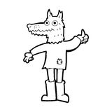 Cartoon wolf man Stock Photography