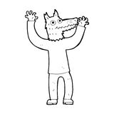 Cartoon wolf man Stock Images