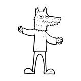 Cartoon wolf man Stock Photo