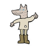 Cartoon wolf man Royalty Free Stock Photo