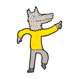 Cartoon wolf man Royalty Free Stock Image