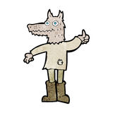 Cartoon wolf man Royalty Free Stock Photos
