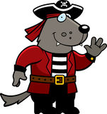 Cartoon Wolf Pirate Stock Photo