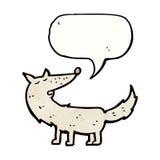 Cartoon wolf with speech bubble Royalty Free Stock Photos