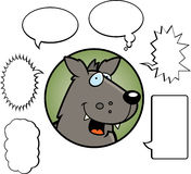 Cartoon Wolf Talking Stock Images