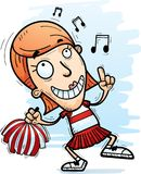 Cartoon Woman Cheerleader Dancing. A cartoon illustration of a woman cheerleader dancing vector illustration