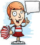 Cartoon Woman Cheerleader Talking. A cartoon illustration of a woman cheerleader talking royalty free illustration