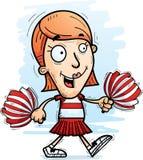 Cartoon Woman Cheerleader Walking. A cartoon illustration of a woman cheerleader walking stock illustration