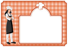 Cartoon woman chef Stock Images