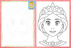 Cartoon woman - face Royalty Free Stock Images