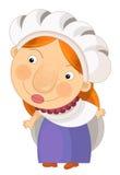 Cartoon woman -  Royalty Free Stock Photo