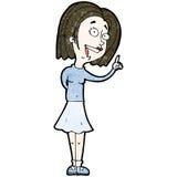 Cartoon woman with idea Royalty Free Stock Photo
