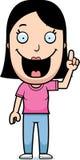 Cartoon Woman Idea Royalty Free Stock Image